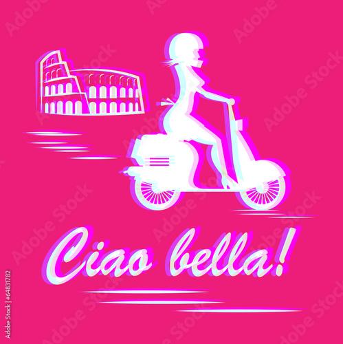Italian abstract., vector illustration