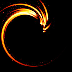 Abstract background-fire shape.