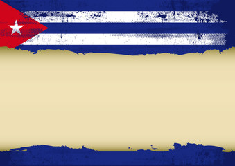 Cuban scratched flag
