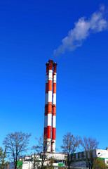 High factory chimneys