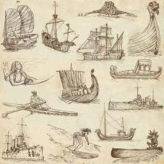 Boats and Ships around the World (set no. 1, paper)