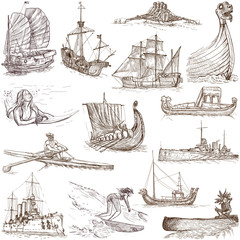 Boats and Ships around the World (set no. 1, white)