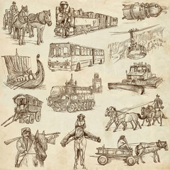 Transport Equipment around the World (set no. 3, paper)