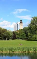 Leipzig Blick auf Rathaus