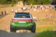 Rally car jump