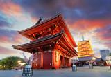 Fotoroleta Tokyo - Sensoji-ji, Temple in Asakusa, Japan