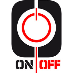 On Off Power Symbol Logo