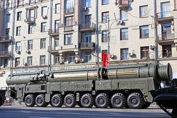 Military parade dedicated to Victory Day in World War II on in M