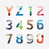alphabet modern color abstract style Design. Vector illustration