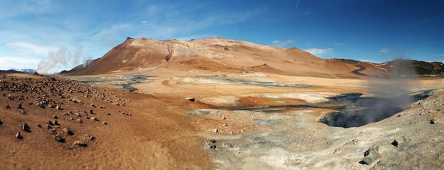 Panoram - Iceland, Volcanic landscape Namafjall