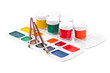 watercolor paints and brushes for painting