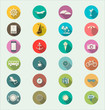 Travel modern flat icon collection retro color