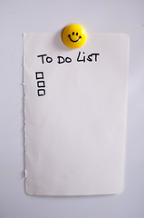 To do list