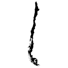High detailed vector map - Chile.