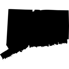 High detailed vector map - Connecticut.