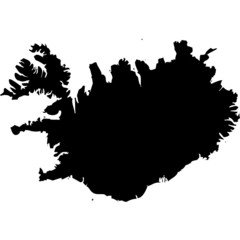 High detailed vector map - Iceland.