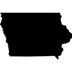 High detailed vector map - Iowa.