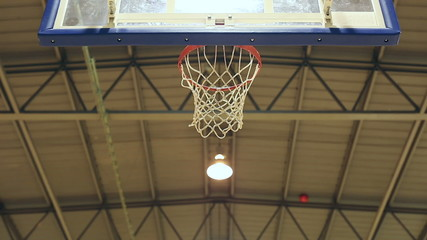Basketball point being scored