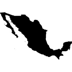 High detailed vector map - Mexico.