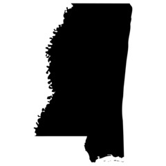 High detailed vector map - Mississippi.
