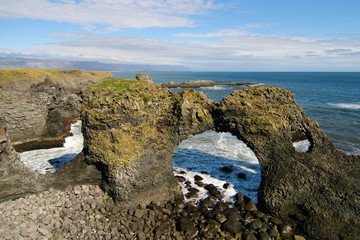Rocky arch of Arnarstapi, Iceland