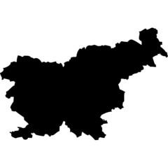 High detailed vector map - Slovenia.