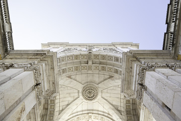 Arco of commerce in Lisbon