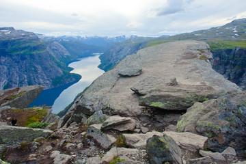 Norway Mountain Vibrant Landscape Trolltunga Odda Fjord Norge Hi
