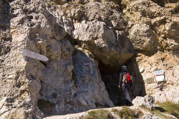 Bergsteiger am Lagazuoi - Dolomiten - Alpen