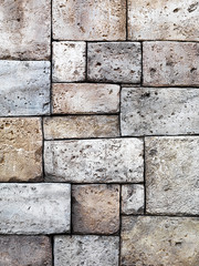 Old rustic stone wall texture