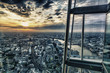 canvas print picture - London skyline by sunset from the skyscraper
