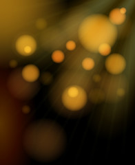 Blurred golden bubbles shimmering background