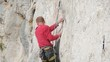 Rock climber clips protection