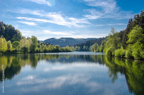 canvas print picture Stausee