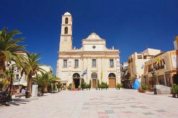 Orthodox church on the square in Chania, Crete