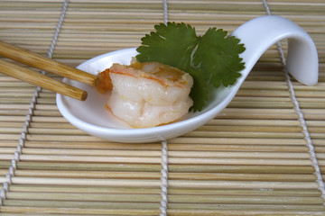 Shrimp Dim Sum with Chopsticks