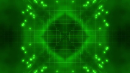 Green Science Fiction Looping Animated Background