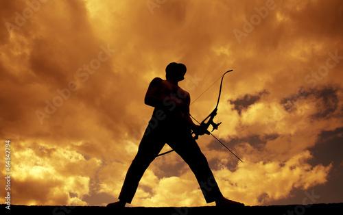 Fotobehang Jacht Archer Silhouette