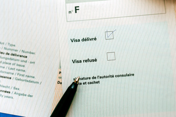 French visa application approved