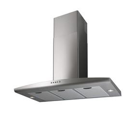 Modern INOX cooker hood isolated on white