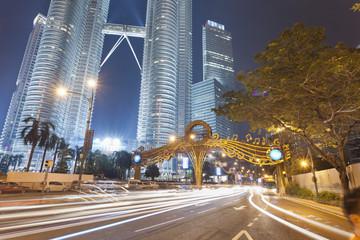 Two famous Petronas Twin Towers. Malaysia, Kuala Lumpur