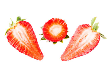 Cuts of strawberry