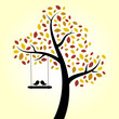 Autumn Love Birds Tree