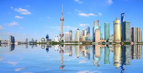 Shanghai bund lujiazui landmark skyline