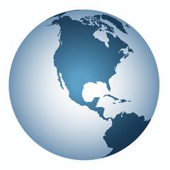 Yer küre  ( Kuzey  Amerika  )
