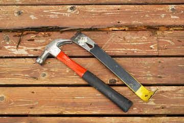 Hand tools for fixing old Deck