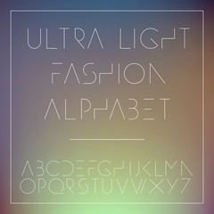 Light fashion alphabet letters collection