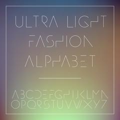 Light fashion alphabet letters collection
