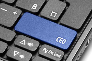 CEO. Blue hot key on computer keyboard
