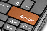 Fototapety Motivation. Orange hot key on computer keyboard